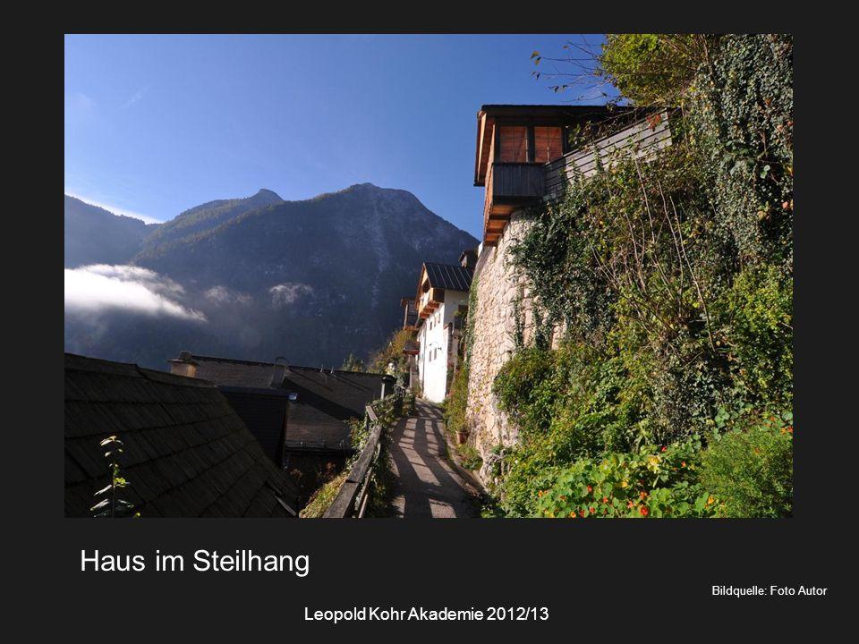 Bildquelle: Foto Autor Haus im Steilhang Leopold Kohr Akademie 2012/13