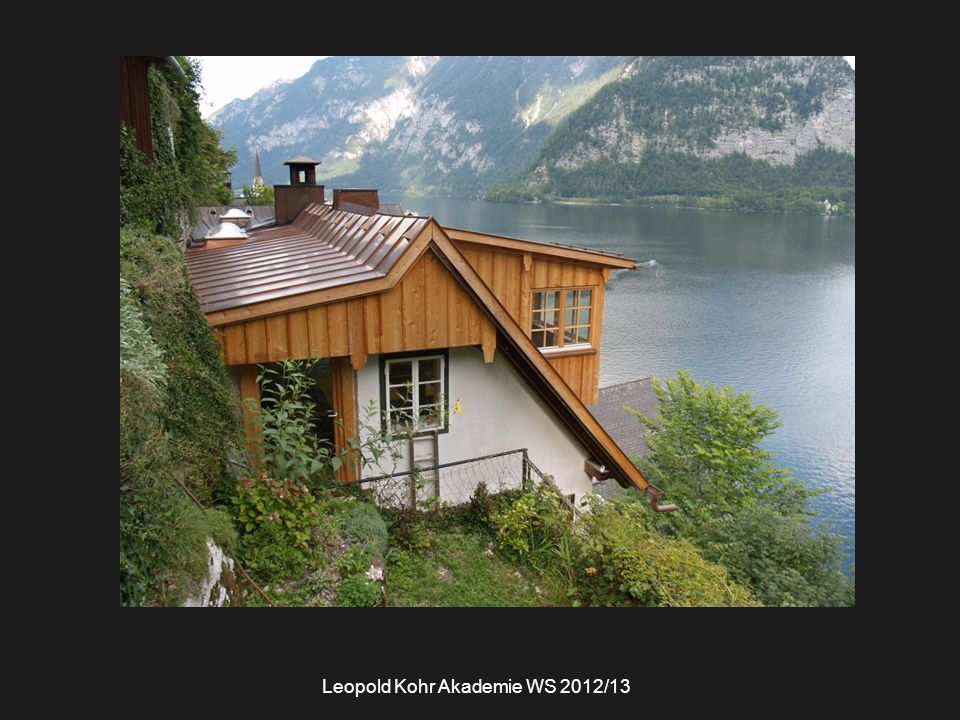 Leopold Kohr Akademie WS 2012/13