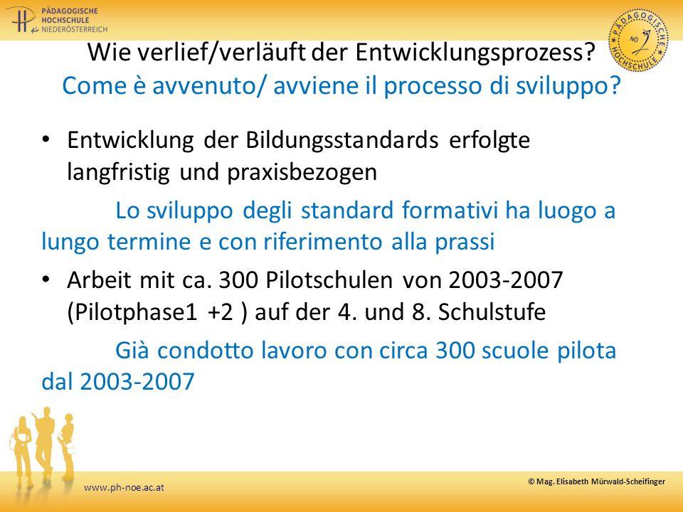www.ph-noe.ac.at Wie verlief/verläuft der Entwicklungsprozess.