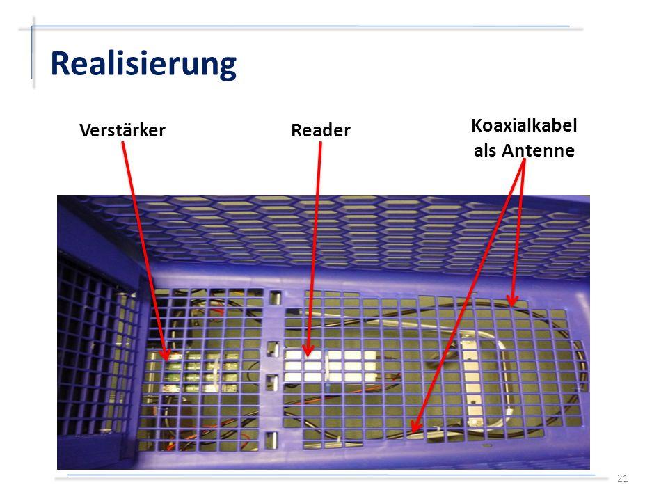 Realisierung 21 VerstärkerReader Koaxialkabel als Antenne