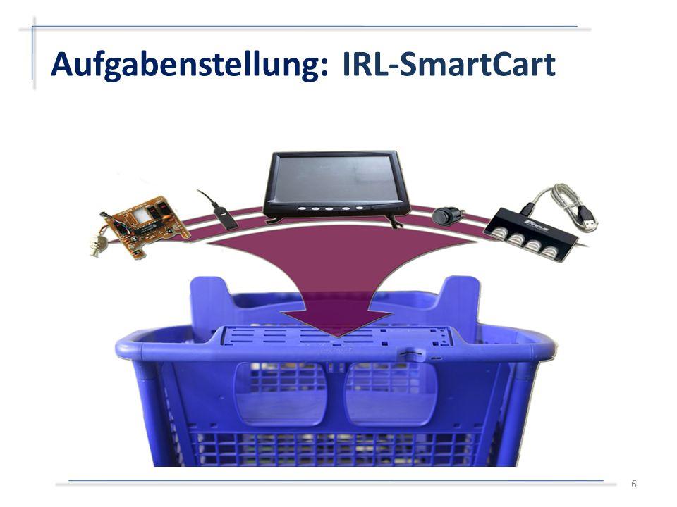 17 Mini- Computer LaptopSelbstgebauter Rechner Größesehr kleinmittelklein Kostenrelativ teuermittelrelativ teuer Akkukeinrelativ gut Displaykeinschlecht trennbar angepasst Instrumentierter Einkaufswagen Angedachte Hardwarelösung