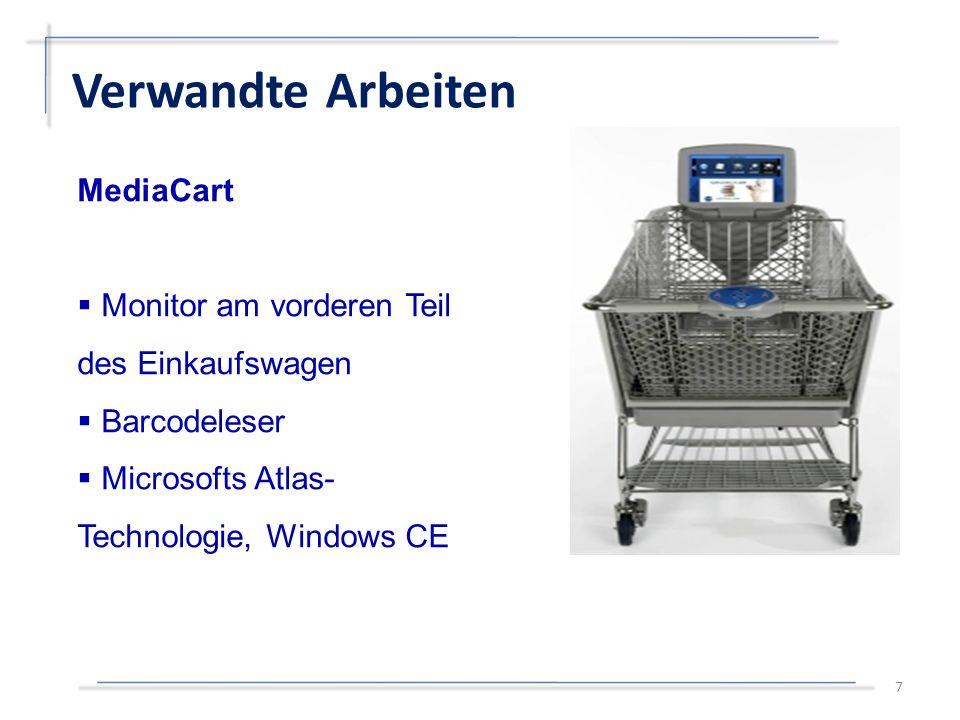 MediaCart  Monitor am vorderen Teil des Einkaufswagen  Barcodeleser  Microsofts Atlas- Technologie, Windows CE Verwandte Arbeiten 7