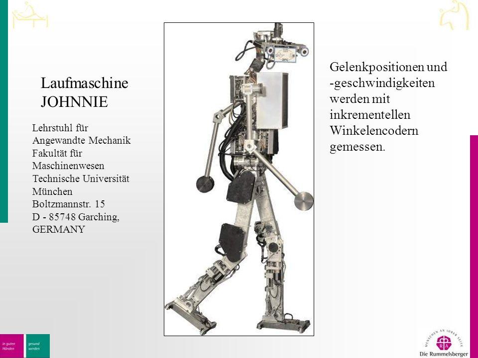 Laufmaschine JOHNNIE Lehrstuhl für Angewandte Mechanik Fakultät für Maschinenwesen Technische Universität München Boltzmannstr.