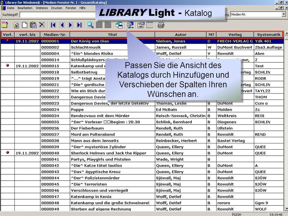Die Tagesstatistik LIBRARY Light - Statistik