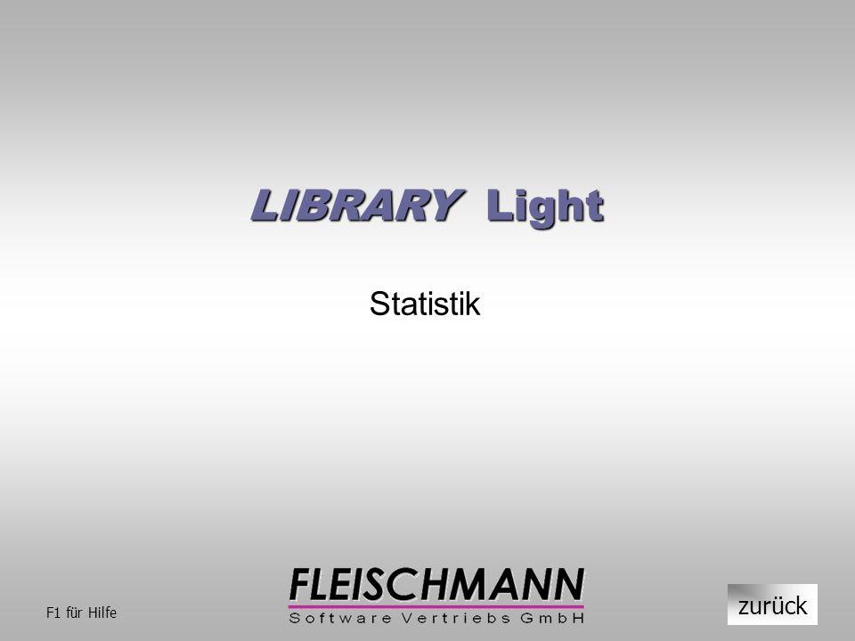 LIBRARY Light Statistik zurück F1 für Hilfe