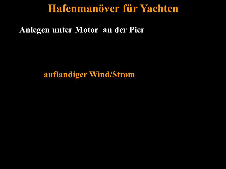 Bertram Birk 2005/2009 26 Anlegen unter Motor an der Pier Hafenmanöver für Yachten auflandiger Wind/Strom