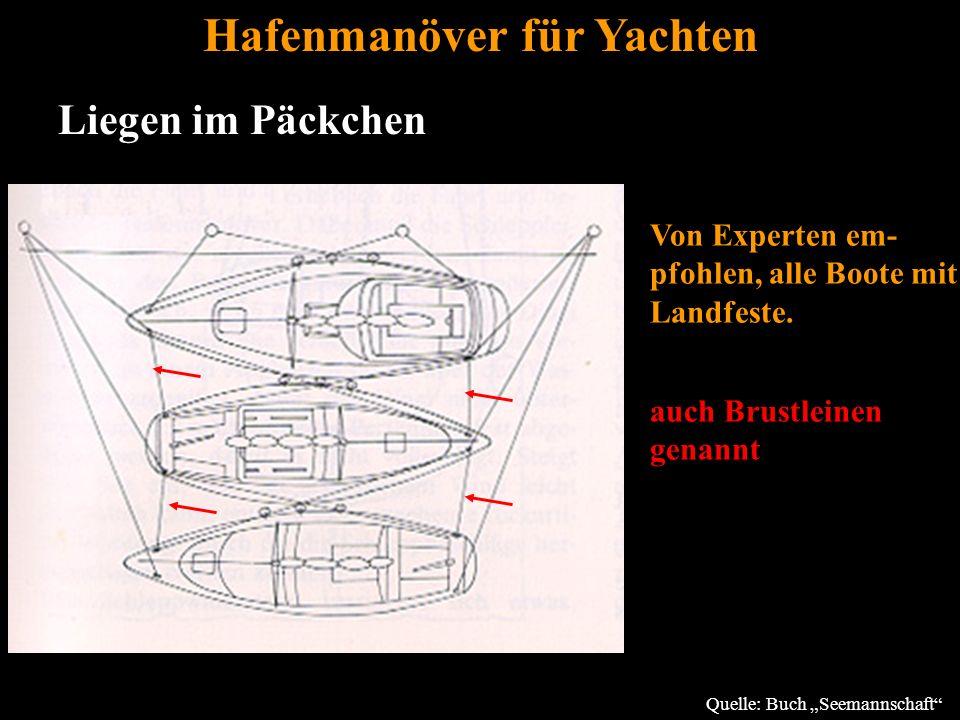 Bertram Birk 2005/2009 44 Hafenmanöver für Yachten Liegen im Päckchen Von Experten em- pfohlen, alle Boote mit Landfeste.