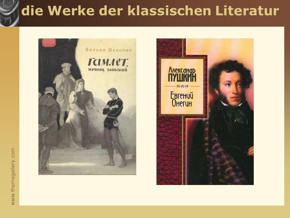 www.themegallery.com die Werke der klassischen Literatur