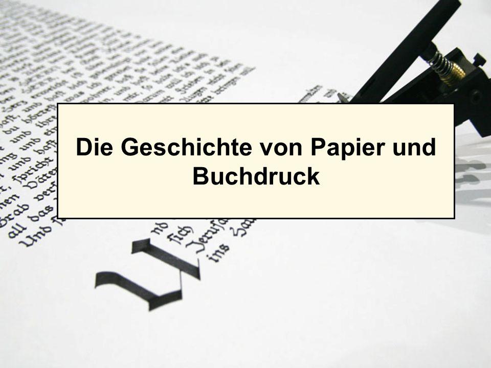 LOGO Die Geschichte von Papier und Buchdruck