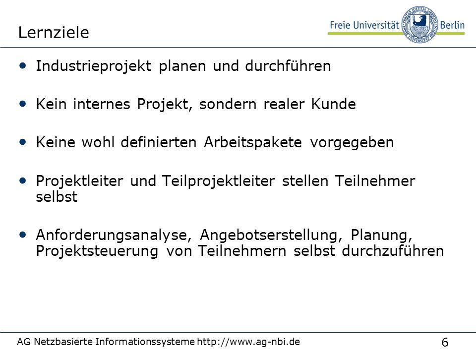 27 360°Bewertung AG Netzbasierte Informationssysteme http://www.ag-nbi.de Scheinkriterien