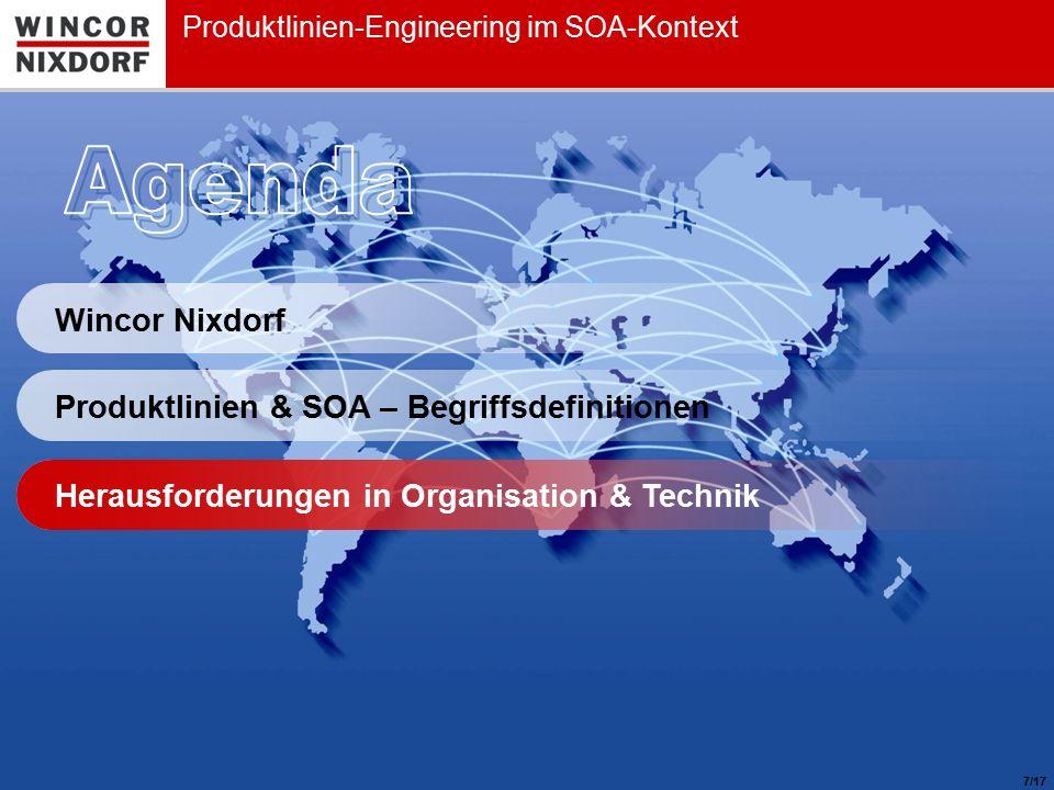 Produktlinien-Engineering im SOA-Kontext / SE 2010 Konferenz | Roger Zacharias / WN CF CTO Corporate Architecture Management | Februar 20108 Herausforderungen in Organisation & Technik Technische Herausforderungen /17