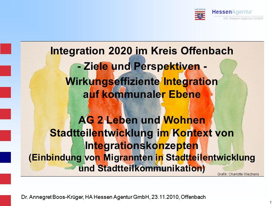 HessenAgentur HA Hessen Agentur GmbH Dr. Annegret Boos-Krüger, HA Hessen Agentur GmbH, 23.11.2010, Offenbach Integration 2020 im Kreis Offenbach - Zie
