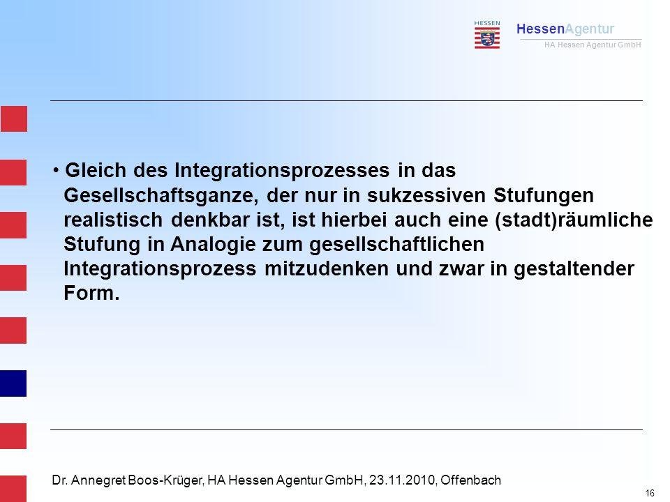 HessenAgentur HA Hessen Agentur GmbH Dr. Annegret Boos-Krüger, HA Hessen Agentur GmbH, 23.11.2010, Offenbach Gleich des Integrationsprozesses in das G