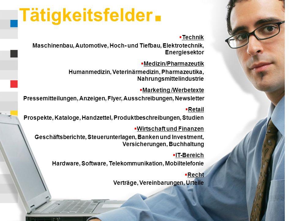 www.skrivanek.com Tätigkeitsfelder.