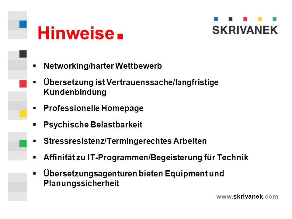 www.skrivanek.com Hinweise.