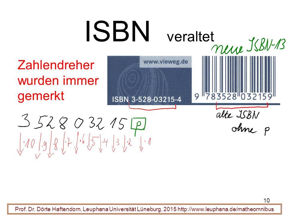 10 ISBN veraltet Prof. Dr.