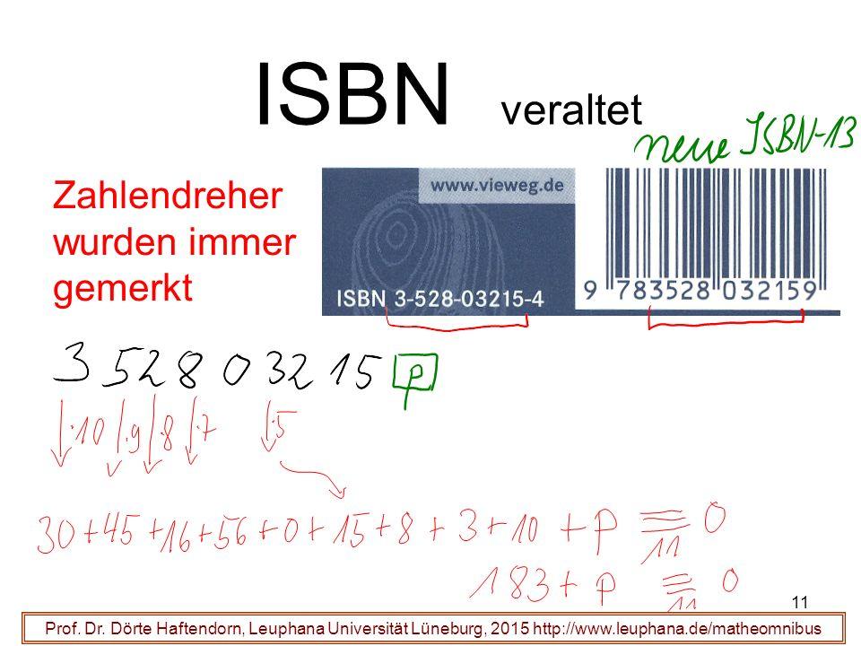 11 ISBN veraltet Prof. Dr.