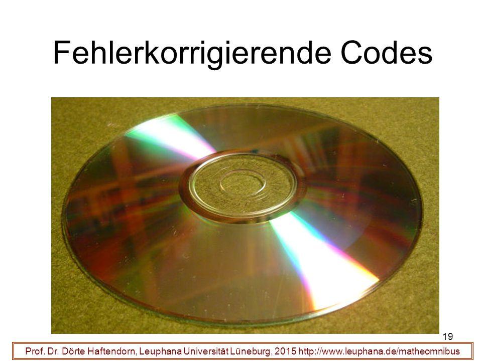 19 Fehlerkorrigierende Codes Prof. Dr.