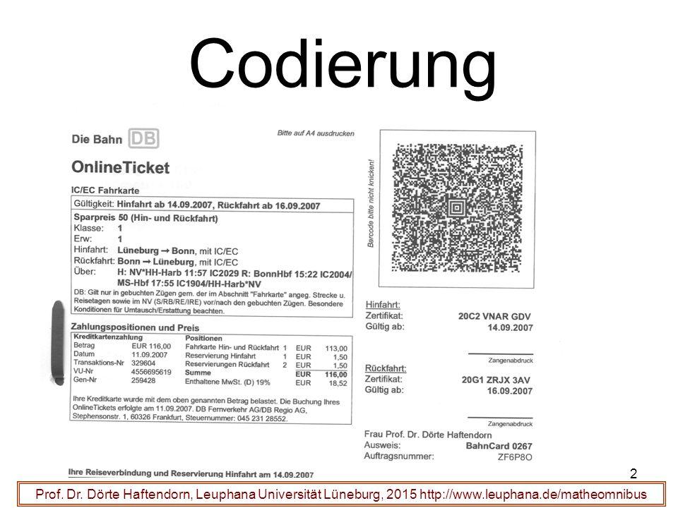 33 Funktioniert der Hamming-Code .Prof. Dr.