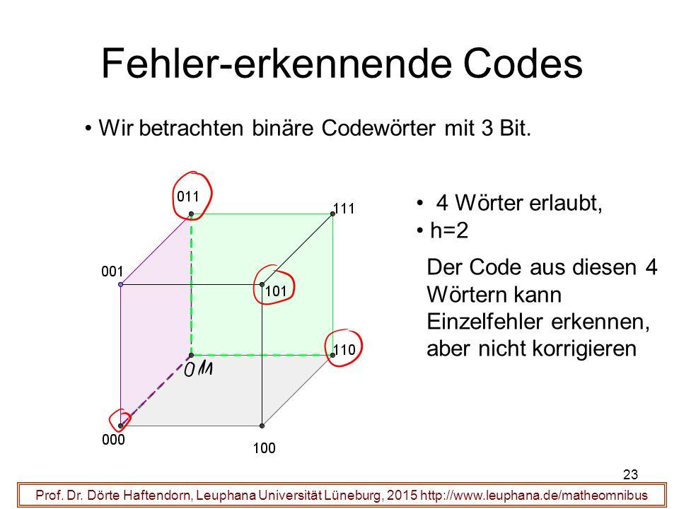 23 Fehler-erkennende Codes Prof. Dr.