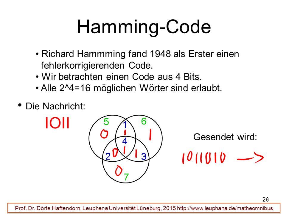 26 Hamming-Code Prof. Dr.