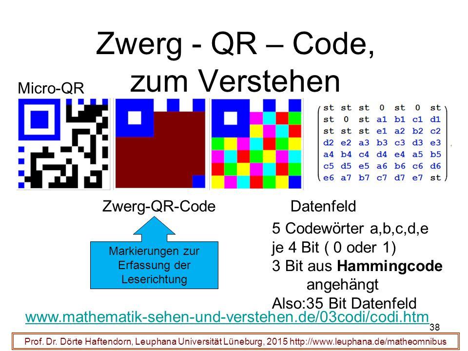 38 Zwerg - QR – Code, zum Verstehen Prof. Dr.