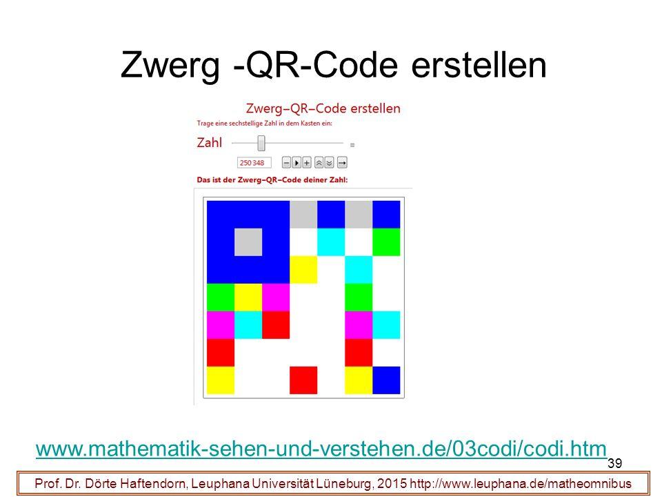 39 Zwerg -QR-Code erstellen Prof. Dr.