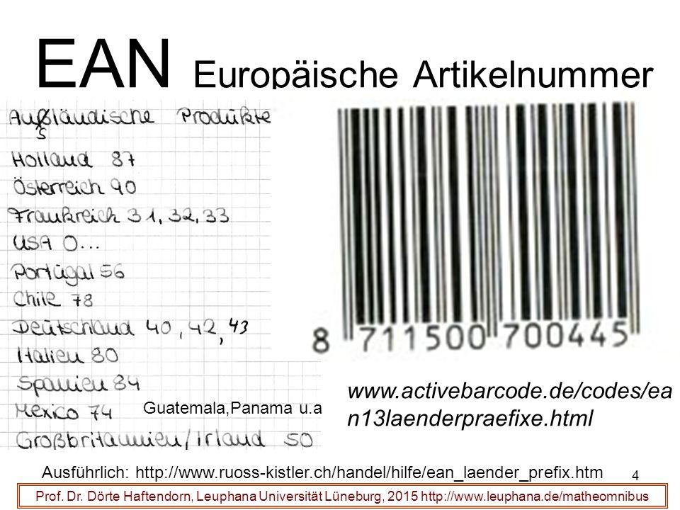 4 EAN Europäische Artikelnummer Prof. Dr.