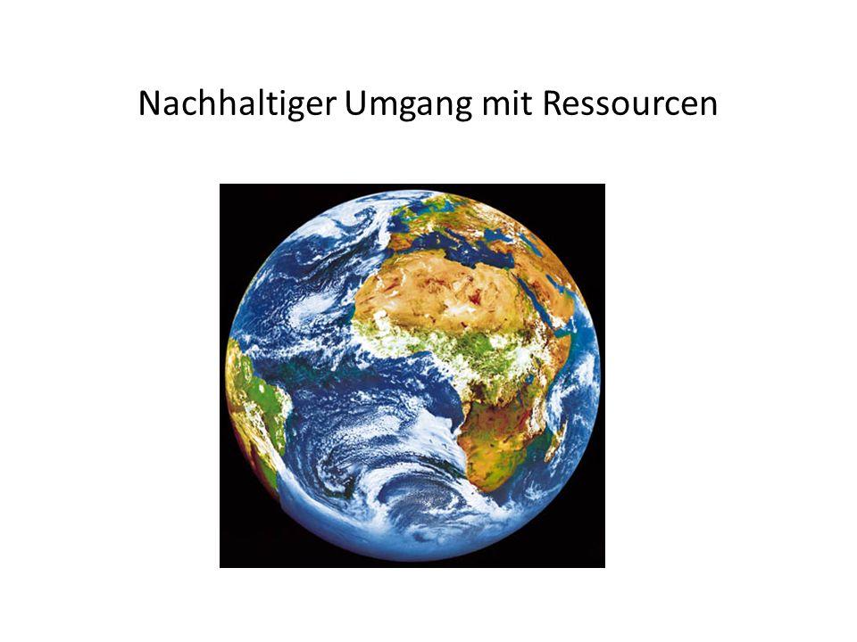 Nachhaltiger Umgang mit Ressourcen