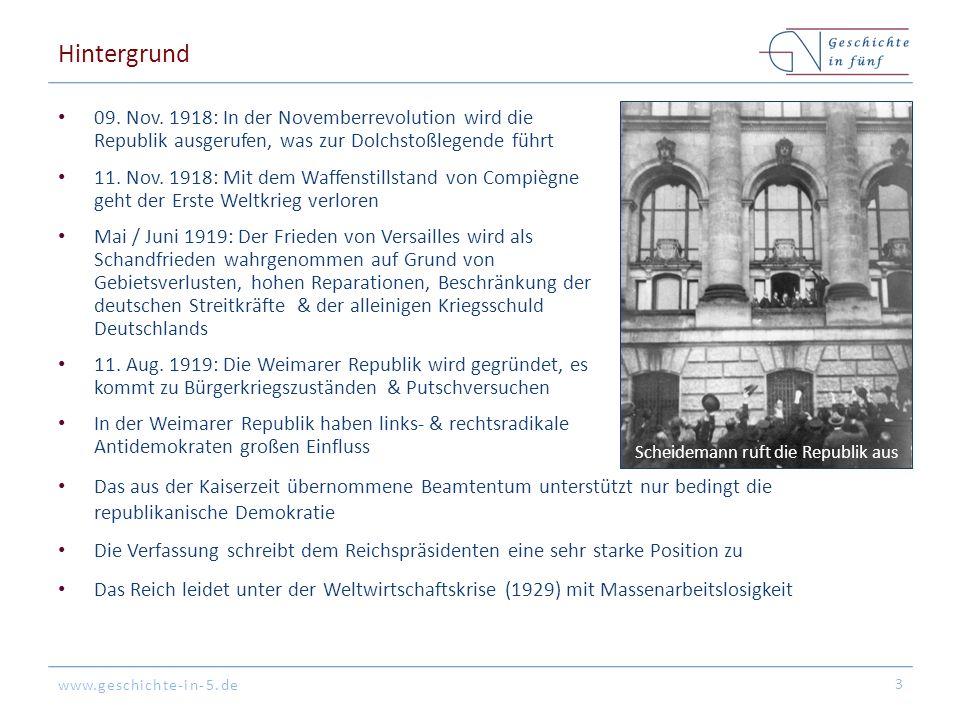 www.geschichte-in-5.de Hintergrund 09. Nov.