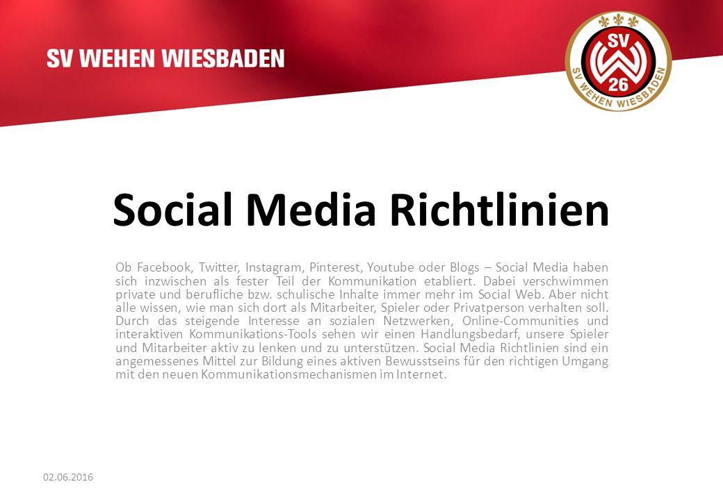 Social Media Richtlinien Ob Facebook, Twitter, Instagram, Pinterest, Youtube oder Blogs – Social Media haben sich inzwischen als fester Teil der Kommunikation etabliert.