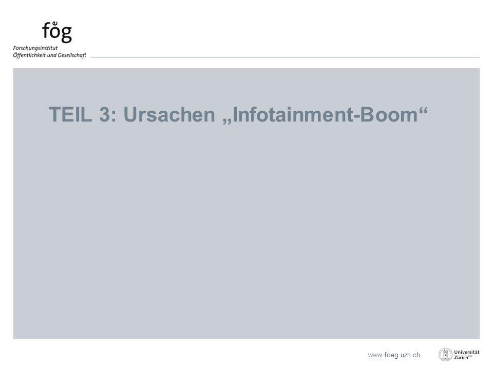 "www.foeg.uzh.ch TEIL 3: Ursachen ""Infotainment-Boom"