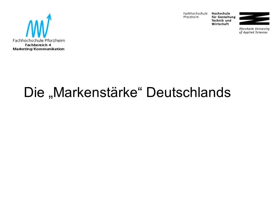 """21 Die """"Markenstärke Deutschlands"""