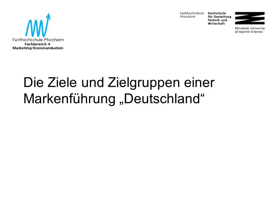 """54 Die Ziele und Zielgruppen einer Markenführung """"Deutschland"""