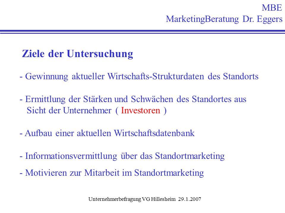 Unternehmerbefragung VG Hillesheim 29.1.2007 Frage 26: Erfahrungen mit der VG Verwaltung .