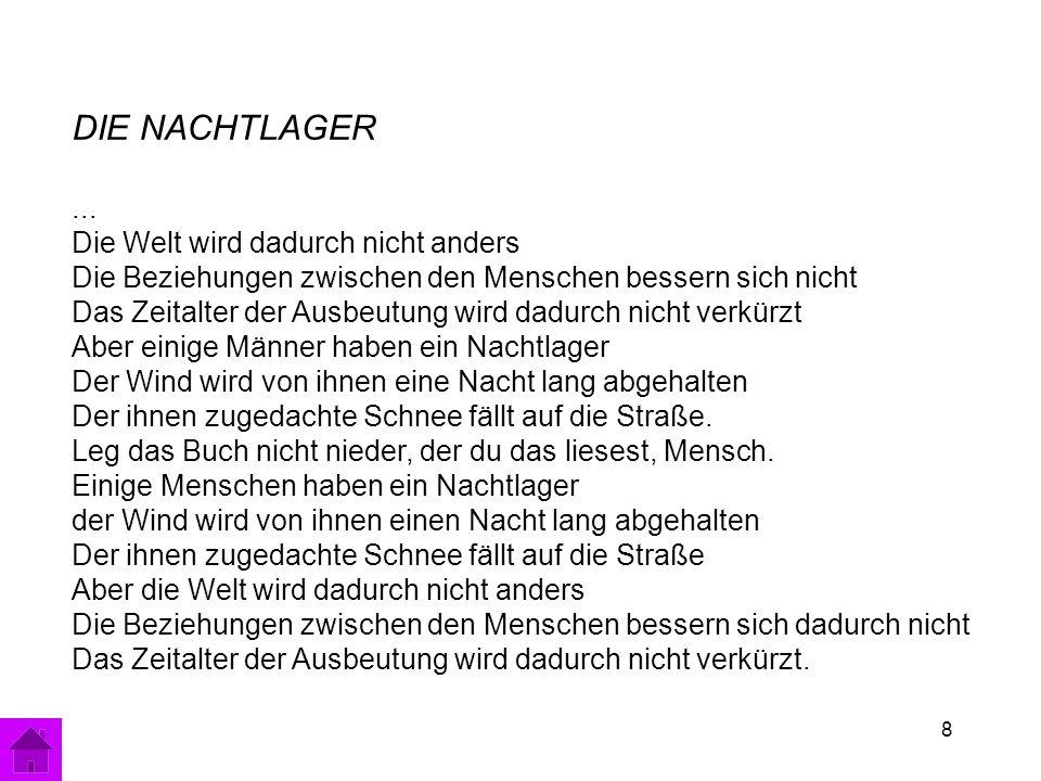 8 DIE NACHTLAGER...