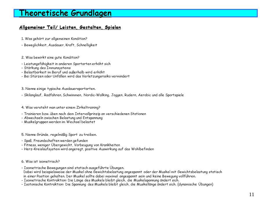 12 Theoretische Grundlagen Allgemeiner Teil/ Muskeln
