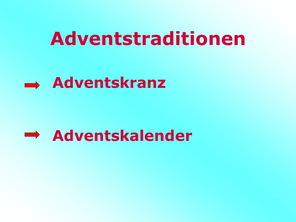 Adventstraditionen Adventskranz Adventskalender