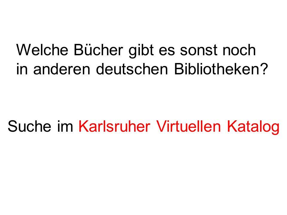 Welche Bücher gibt es sonst noch in anderen deutschen Bibliotheken.