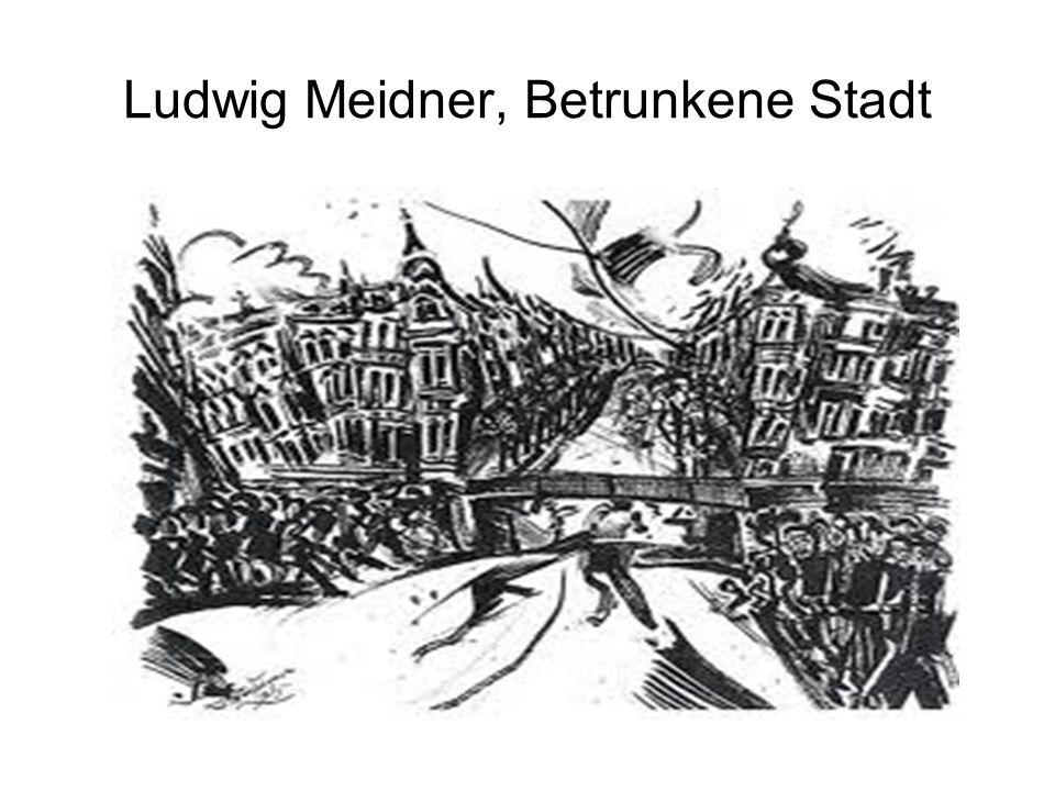 Ludwig Meidner, Betrunkene Stadt
