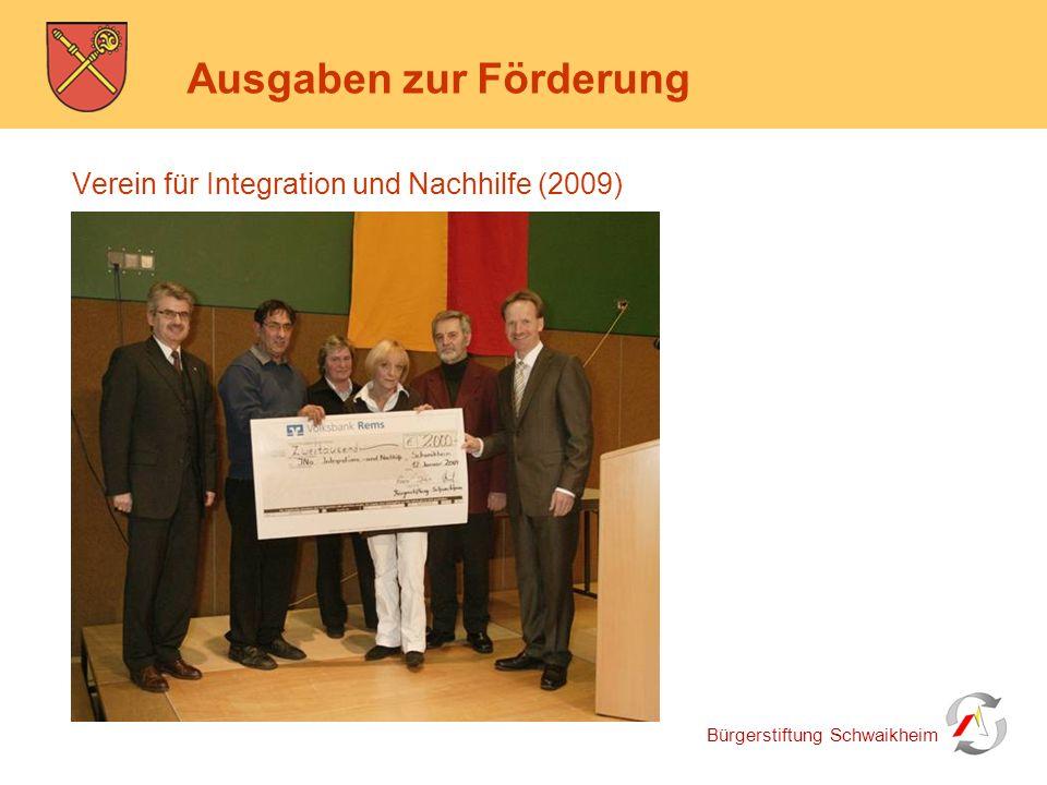Bürgerstiftung Schwaikheim Ausgaben zur Förderung Country und Westernfreunde & Obst- und Gartenbauverein (2010)