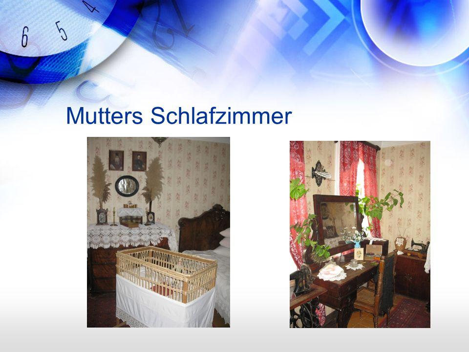 Mutters Schlafzimmer