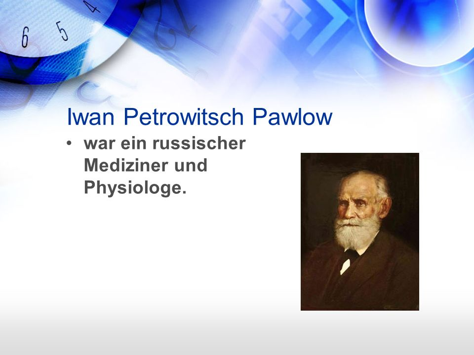 Iwan Petrowitsch Pawlow war ein russischer Mediziner und Physiologe.
