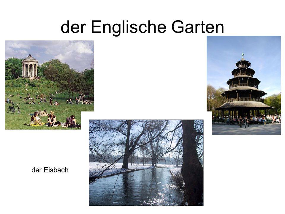 der Englische Garten der Eisbach