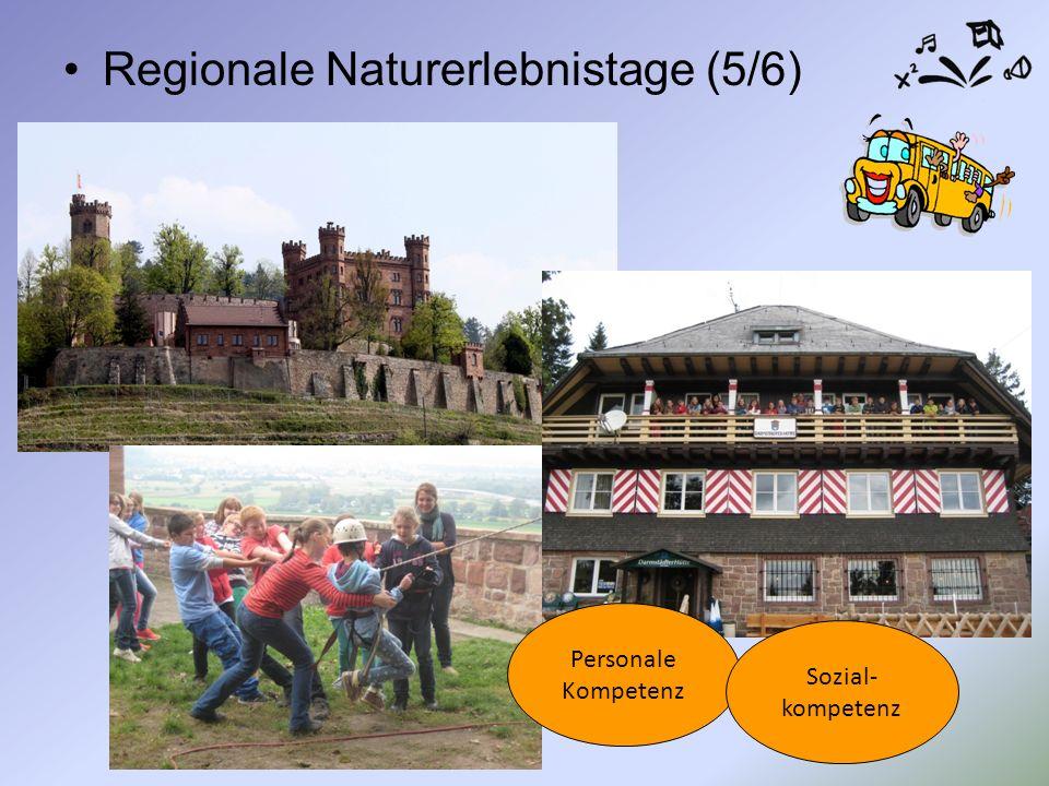 Regionale Naturerlebnistage (5/6) Personale Kompetenz Sozial- kompetenz