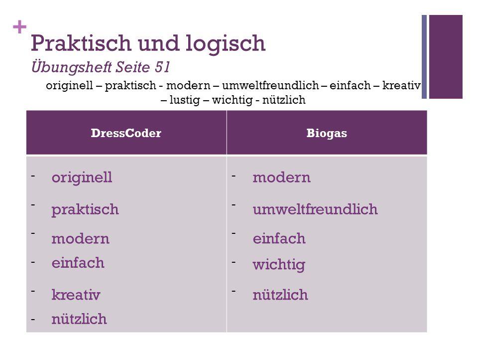+ Praktisch und logisch Vergleiche jetzt die 2 Erfindungen Ich finde den DressCoder kreativer / origineller.