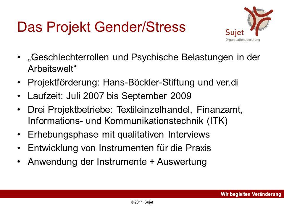 """Wir begleiten Veränderung Das Projekt Gender/Stress """"Geschlechterrollen und Psychische Belastungen in der Arbeitswelt"""" Projektförderung: Hans-Böckler-"""