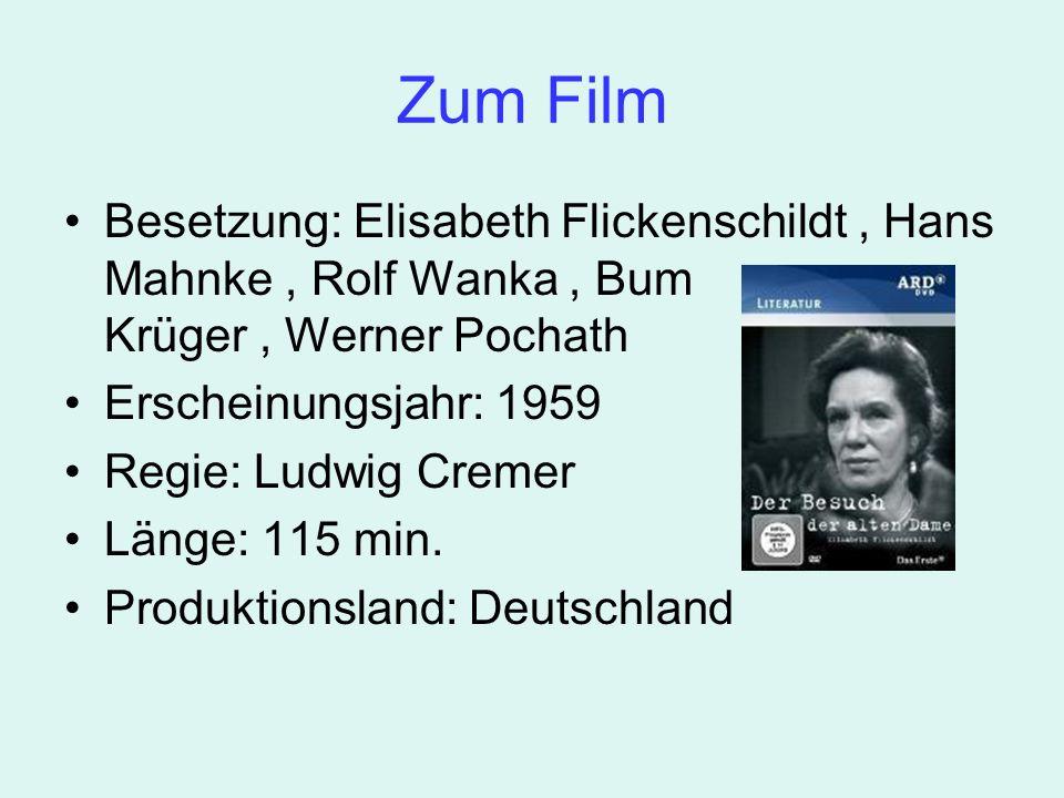 Zum Film Besetzung: Elisabeth Flickenschildt, Hans Mahnke, Rolf Wanka, Bum Krüger, Werner Pochath Erscheinungsjahr: 1959 Regie: Ludwig Cremer Länge: 115 min.