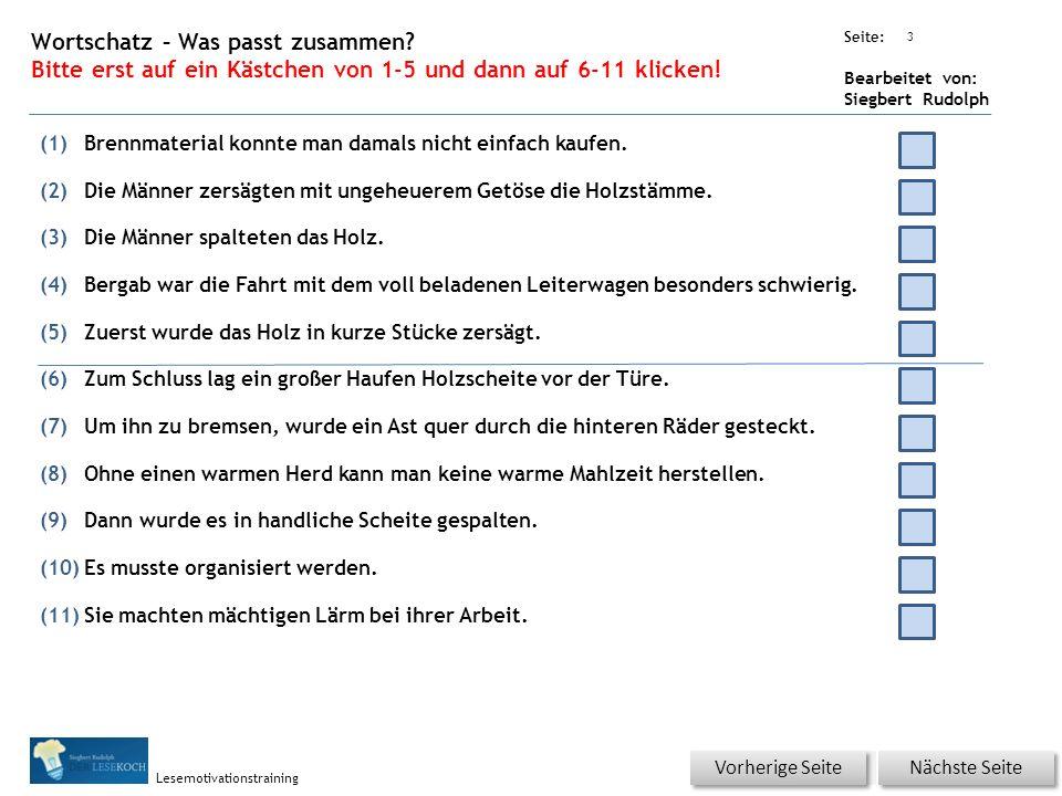 Übungsart: Seite: Bearbeitet von: Siegbert Rudolph Lesemotivationstraining 2 04 Hunger oder Kälte – bitte klicken.