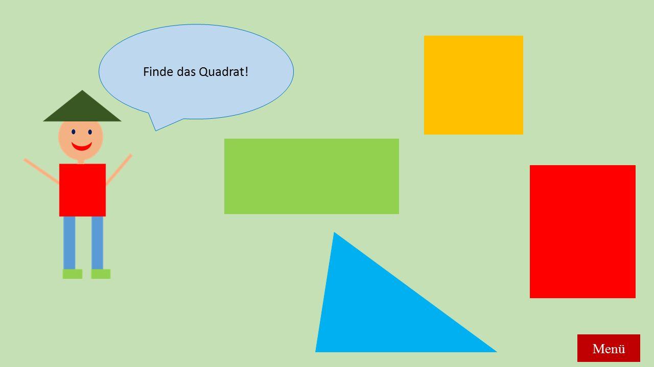 Finde das Quadrat! Menü